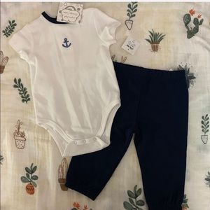 Little me anchor baby outfit set size 6 months